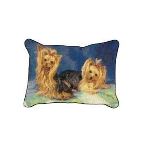 Yorkie Yorkshire Terrier Dogs Tapestry Couch Pillow