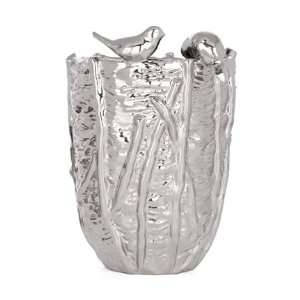 Torre & Tagus Bird Nest Vase, Large, Chrome