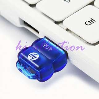 HP 4GB 4G USB Flash Pen Drive Mini Nano Tiny Disk BLUE v112b