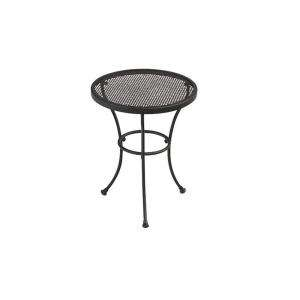 Black Wrought Iron Patio Side Table W3929 TS BK