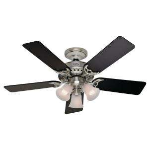 Hunter Stonington 46 in. Brushed Nickel Ceiling Fan 21362 at The Home