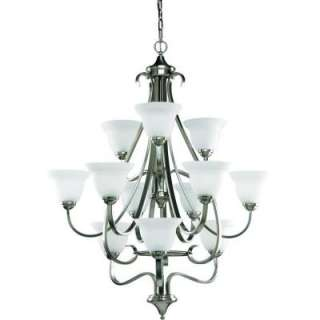 Progress Lighting Torino Collection Brushed Nickel 12 light Chandelier