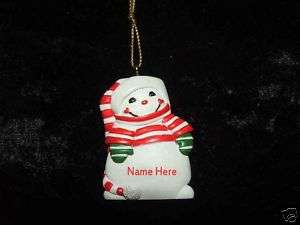 Kurt Adler Personalized Snowman Ornament *VARIOUS NAMES