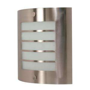 Glomar 1 Light Brushed Nickel Fluorescent 9 on. Wall Fixture 18 watt