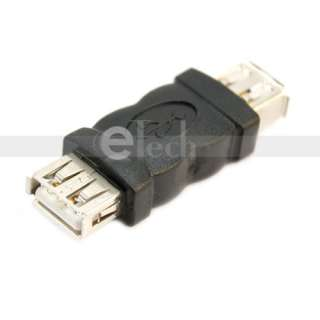 NEW USB 2.0 A FEMALE TO A FEMALE F F Coupler ADAPTER CONNECTOR Black