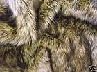 Super Luxury Faux Fur Fabric BROWN COYOTE   All Sizes B