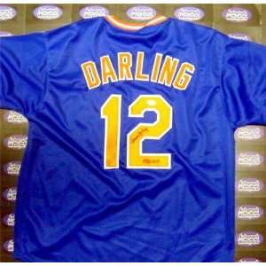 Ron Darling Autographed/Hand Signed Baseball Jersey (New York Mets