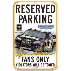 Ryan Newman Reserved Parking Sign