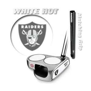 Oakland Raiders NFL Team Logod Odyssey White Hot 2 Ball Putter by