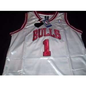 Derrick Rose Adidas Home White Chicago Bulls Jersey