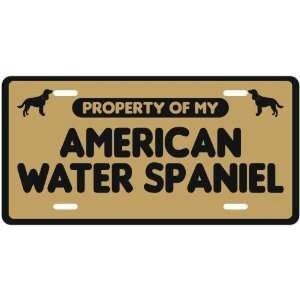 OF MY AMERICAN WATER SPANIEL  LICENSE PLATE SIGN DOG
