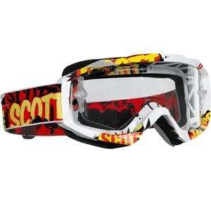 Scott Hustle Graphic Goggles   Banter Works Clear