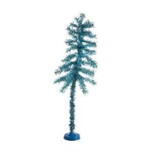 Sky Blue Artificial Tinsel Christmas Trees   Unlit 2