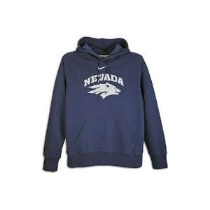 Nevada Wolf Pack Nike Navy Classic Logo Fleece Hooded