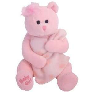 TY Beanie Baby   BABY GIRL the Bear (with Blanket & Bow