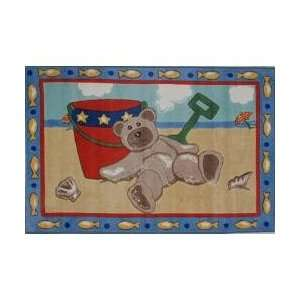 Beach Bear Kids Rug in Multi   39 x 58   Jade Reynolds