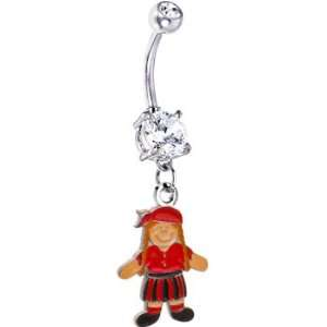 Colorful Girl Pirate Belly Ring Jewelry