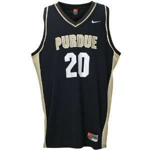 Nike Purdue Boilermakers #20 Black Replica Basketball