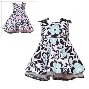 SHOULDER FLORAL PRINT Special Occasion Wedding Flower Girl Party Dress