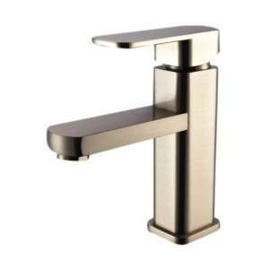 Handle Nickel Brushed Centerset Bathroom Sink Faucet
