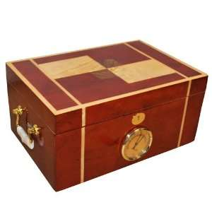 & Spanish Cedar Treasure Chest 100 Cigar Box Humidor