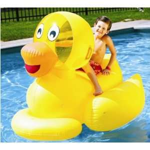 Kids Inflatable Pool Floating Ride on Ducky Toys & Games