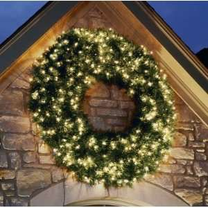 72 Pre lit Windsor Pine Artificial Christmas Wreath Clear