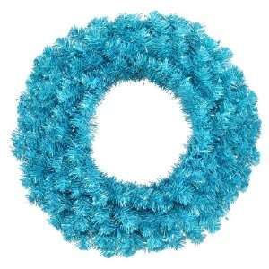 Sky Blue Artificial Christmas Wreath   Blue Lights
