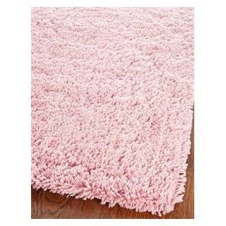 Shag Collection Classic Handmade Pink Shag Area Rug, 5 Feet by 8 Feet