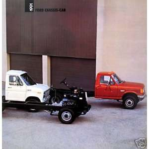 1991 Ford Chassis Cab vehicle brochure