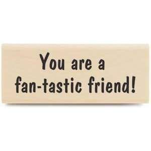 Fan tastic Friend   Rubber Stamps Arts, Crafts & Sewing