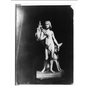 Historic Print (M) [Sculpture of boy with birds slung over his