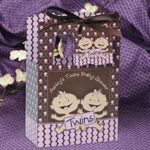 Girls Caucasian   Classic Personalized Baby Shower Favor Boxes Toys