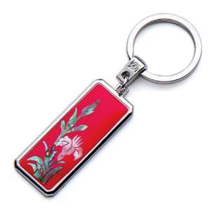 Mother of Pearl Red Orchid Flower Design Handmade Craft