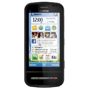 Nokia C6 Unlocked GSM Phone with Easy E mail Setup, Side