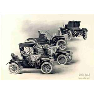 Franklin Model G runabout with hamper, single and rumble seats 1909