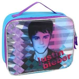 Justin Bieber Musical Dreams Insulated Lunch Tote   Blue and Purple