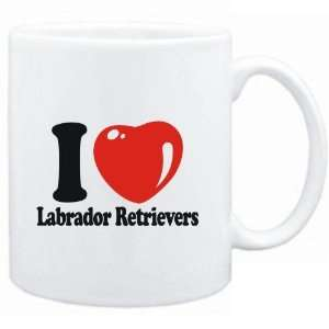 Mug White  I LOVE Labrador Retrievers  Dogs