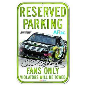 NASCAR Carl Edwards 11 by 17 inch Reserved Parking Sign