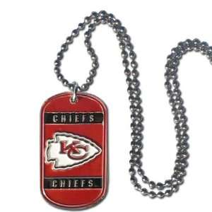 Kansas City Chiefs   NFL Dog Tag Chain Necklace Sports