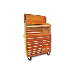 21 Drawer Chest/Cabinet/Side Combo with Roller Bearing Slides   Orange