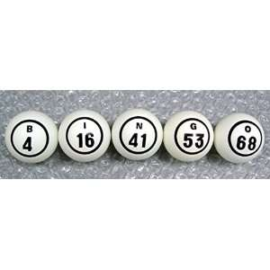 Bingo Balls Single Number   PING PONG BALL SIZE Sports
