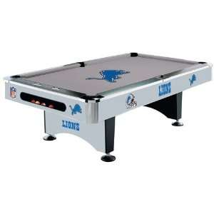 Detroit Lions NFL Pool Table
