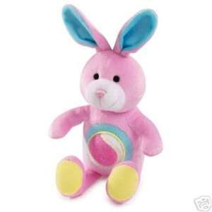Zanies Squeaker Plush Tennis Tummy Dog Toy BUNNY