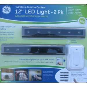 GE Wireless Remote Control 12 LED Light   2 Pack