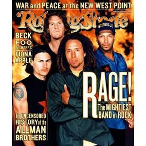 Rage Against the Machine, 1999 Rolling Stone Cover Poster by Martin