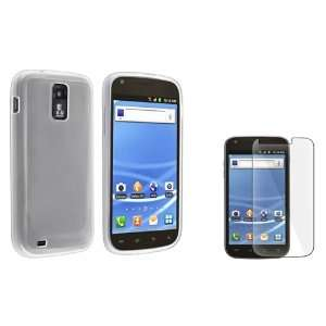 Combo Clear with Clear Trim TPU Rubber Skin Case for