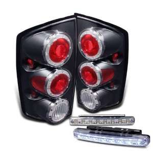 2500 Black LED Tail Lights Lamps + 8 LED Bumper Fog Light Automotive