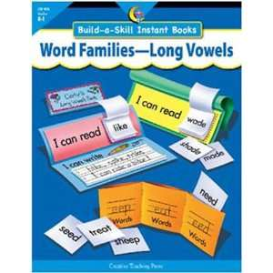 10 Pack CREATIVE TEACHING PRESS WORD FAMILIES LONG VOWELS