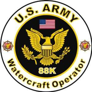 United States Army MOS 88K Watercraft Operator Decal